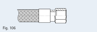 Sleeve with hexagonal and cylindrical pipe thread in compliance with EN 10226-1 (DIN 2999), sealing surface on face side