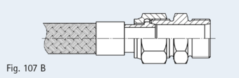 As Fig. 107, but with screw-in part with pipe outer thread in compliance with EN ISO 228-1 (DIN 259)